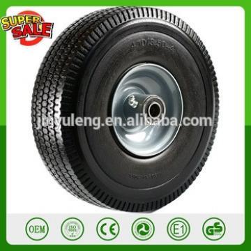 """10'' Heavy Duty Solid Rubber Flat Free Tubeless Hand Truck/Utility Tire Wheel 4.10/3.50-4"""" Tire PU foam solid wheel"""