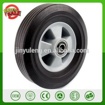 "8'' Heavy Duty Semi Pneumatic Solid Rubber wheel Flat Free Tubeless Hand Truck Utility Tire 2-1/4"" Offset Hub 5/8"" Ball Bearing"