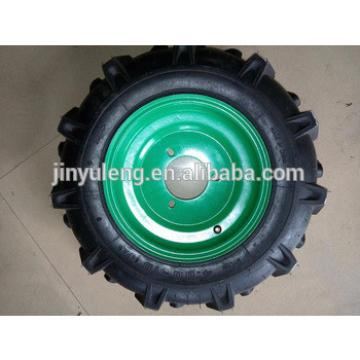 tiller wheel with axle