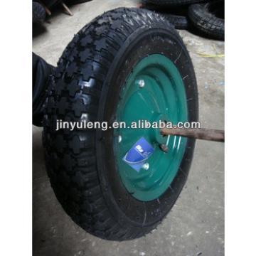 16x400-8 inflatable wheels for wheel barrow / hand trolley/ hand cart