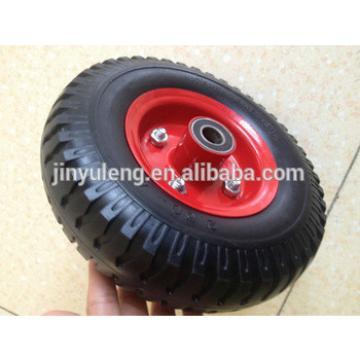 8x250-4 small PU or PR castor wheel price for wheelbarrow, trolley