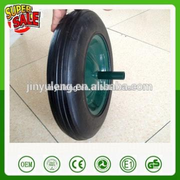 Power load 13 14 16 inch solid rubber wheel for wheelbarrow Middle East market rubber wheel wheelbarrow wheel