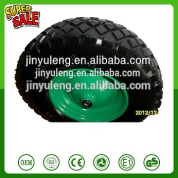 16 inch 4.80/4.00-8 popular pattern PU foam solid wheel for wheelbarrow hand trolley tool cart