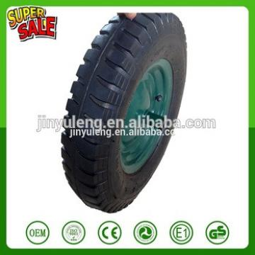3.50-8 4.00-8 lug pattern pneumatic rubber wheel for wheel barrow,air wheel with WB6400