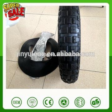 16'' 14'' 3.50-8/4.00-8 Cheap pneumatic wheel tire&tube free pattern wheel barrow trice trailer tire