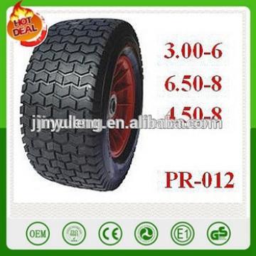 3.00-6 6.50-8 4.50-8 16 Pneumatic rubber air wheels for Lawn mower wheelbarrow trailer