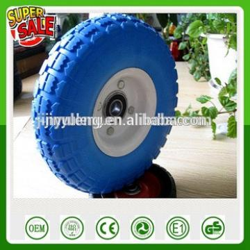 10 inch 4.10/3.50-4 metal steel rim PU solid foam wheel hand trolley truck wheel tool cart wheel