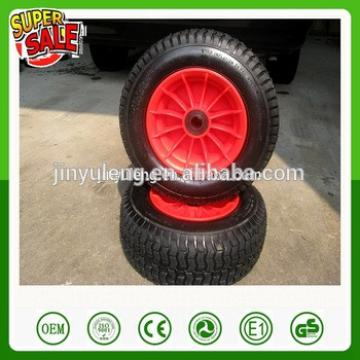 Plastic rim 16 inches 6.50-8 rubber wheel for wheelbarrow lawn mower,hay mowe,hand truck,and Handling equipment nylon push
