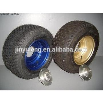 16 inch pneumatic tyre (6.50-8) for hand trolley wheels, Hand Truck ,lawn mover