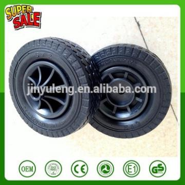 6'' -2 prevent puncture pu foam solid wheel for hand trolley truck tool cart wheel barrow plastic rim