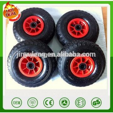10 inch 4.10/3.50-4 plastic rim Pneumatic air rubber wheel for toy car hand truck castor