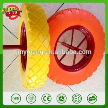 CHINA QingDao 400-8 spoke style pu foam wheel for wheelbarrow Saudi Arabia market