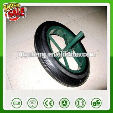 13 14 inch Wholesale retail power stone solid rubber wheel for wheelbarrow