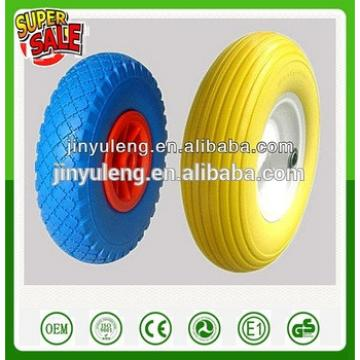 16 inches 4.00-8 pu foam solid wheels (environmental tire) use for trolly ,mover ,hand truck
