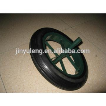 14*4 Spoke type power solid rubber wheel for wheelbarrow ,Middle East market