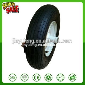16 inch 4.00-8 line pattern pneumatic air rubber wheel for wheelbarrow trolley hand truck