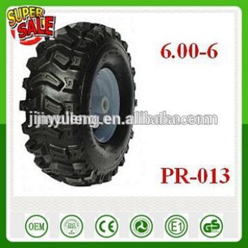 15 inch 6.00-6 Cross-country deep pattern pneumatic rubber air wheel for wagon irrigation equipment lightweight beach ATV