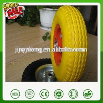 8inche 8x2.50-4 solid pu foam rubber wheel ,green wheel ,Material handling equipment parts