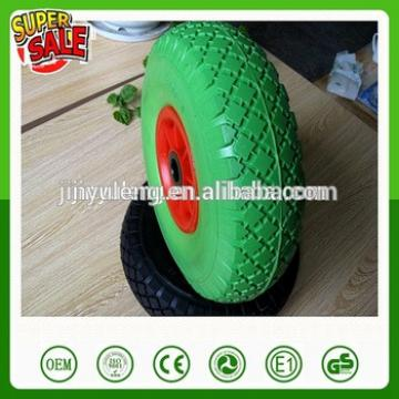 10 inch 3.00/3.50/4.10-4 plastic rim small solid pu foam wheel for wagon cart wheelbarrow hand trolley