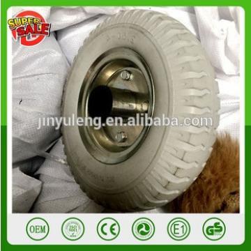 3.00-4 2.50-4 4.00-8 3.50-8 12 inch Green pu foam wheels solid wheel for trolley hand truck caster too cart