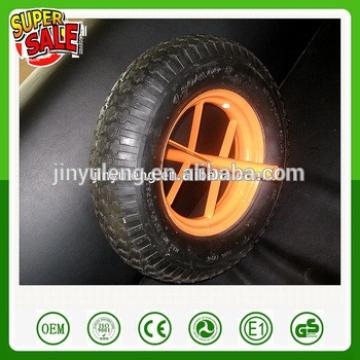 14 16 inch 3.50-8 4.00-8 spoke style pu foam fill solid rubber wheel for wheelbarrow