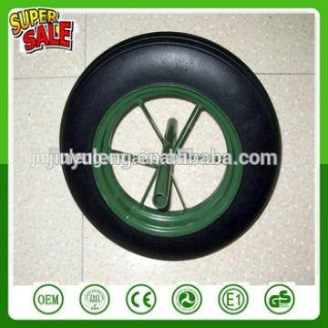 12 '' 13'' 14'' 16'' power spoke solid rubber wheel for wheelbarrow wb6400