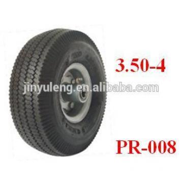 10x3.50-4 pneumatic rubber wheels for hand trolley/ wheel barrow