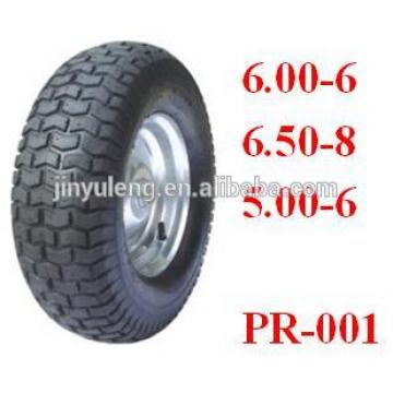 16x650-8 pneumatic rubber wheels for duty wheelbarrow/ construction