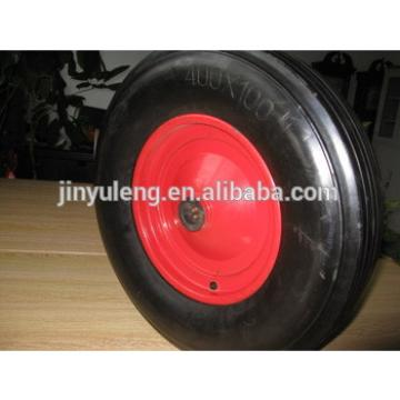 400x100 large cart wheel solid rubber tires