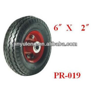 "6""x2"" inflatable rubber wheels for dolley car"
