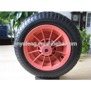 envionmental high quality 14x350-8 pu wheel for trolley, trailer, barrow ,garden cart