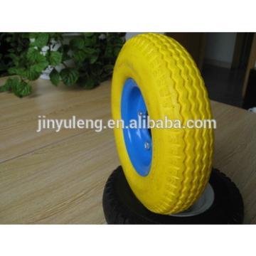 """high quality 8""""x 250-4 pu wheel for trolley,wheel barrow,toy car"""