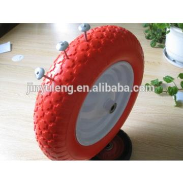 14 inches ,Material handling equipment parts 3.50-8 solid pu foam wheel use for wheelbarrow