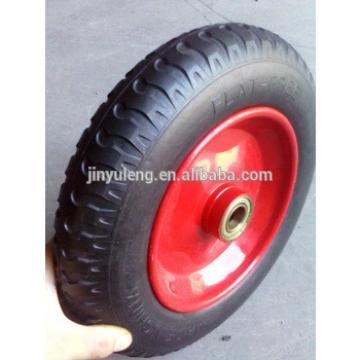 high qulity 400-8 PU wheel for wheel barrow,hand trolly,mini tiller