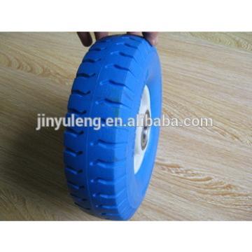 8inche 8x2.50-4 solid pu foam rubber wheel , polyurethane green wheel ,Material handling equipment parts