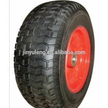 "16""x6.50-8 PU FOAM WHEEL for lawn mower, electric wheelbarrow, trailer"