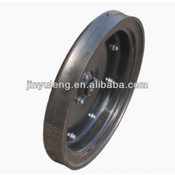 16x2.5 semi solid wheel for seeder narrow limit deep wheel use