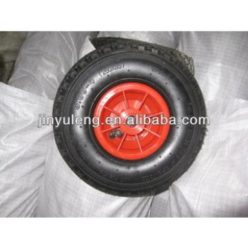 pneumatic wheel with plastic rim for wheel barrow /hand trolley /tool cart