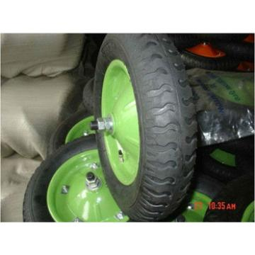 4.00-8 green rim rubber wheel