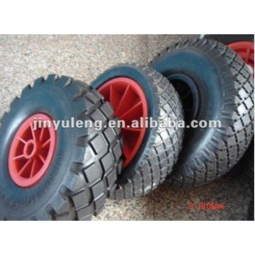 "9""rubber wheel 3.00-4 for wheel barrow"