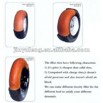 rubber tire with PU foam wheel