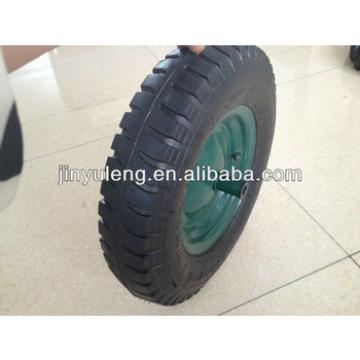 4.00-8 lug pattern rubber wheel , pneumatic wheel for wheel barrow
