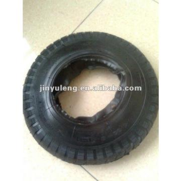 4.00-8 rubber tire&tube /pneumatic for wheel barrow ,lug pattern