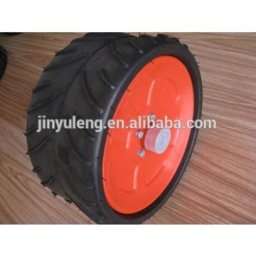 semi pneumatic rubber wheel 370x165 for lawn mover ,garden grass mover