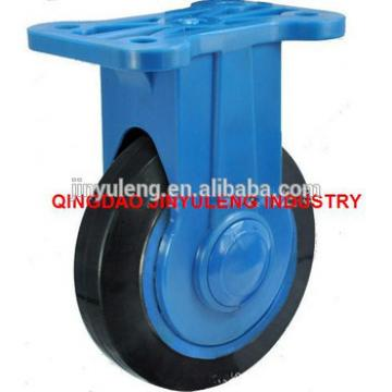 "high quality 5"" nylon bracket natural rubber mute activities castors"