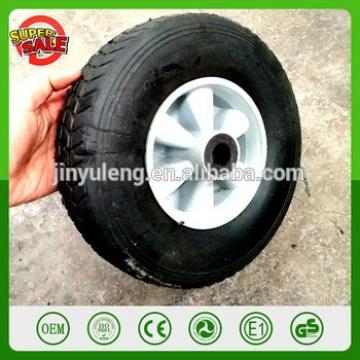10'' 2.5 '' solid rubbr osed tire wheel wastebin wheel round solid tyres plastic rim trailer dolly trolley tool cart truckwheel
