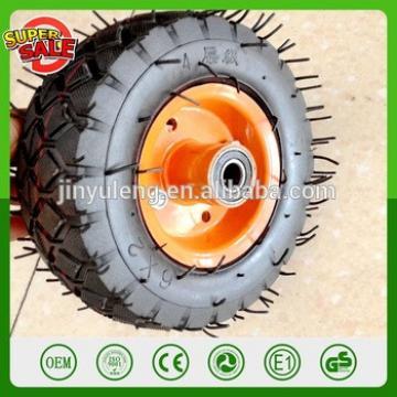 6''*2 heavy capacity 4PR metal rim pneumatic rubber air wheel for hand trolley truck wheelbarrow wagon cart caster 6'' wheel
