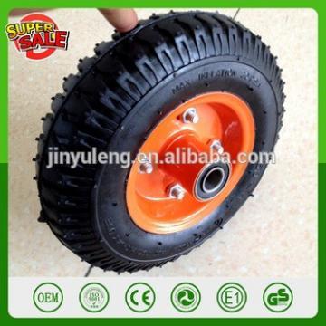 8'' 2.50-4 200mm metal rim Pneumatic rubber wheel air wheel for castor hand trolley truck wagon tool cart wheelbarrow tools