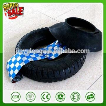 qingdao factory Wholesale 14'' 16''pneumatic air rubber wheel tire & tube for wheelbarrow 3.50-8 4.00-8 tire & tube lug pattern