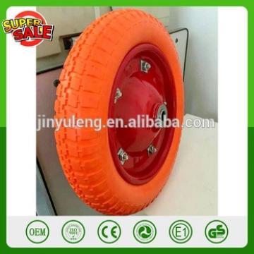 14 inch 3.50-8 plastic rim pu foma wheel solid wheel wheelbarrow wheels barrow hand truck trolley tool cart wheel tire
